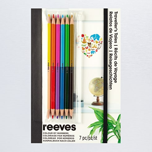 Reeves Colouring by Numbers Traveller's Tales A5 Assorted Colours